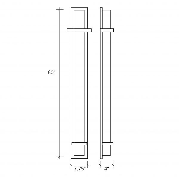 """Monolith 48"""" ADA LED Outdoor/Indoor Wall Sconce"""