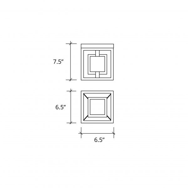 """Bayview 6.5"""" Square LED Wall Sconce (Outdoor)"""