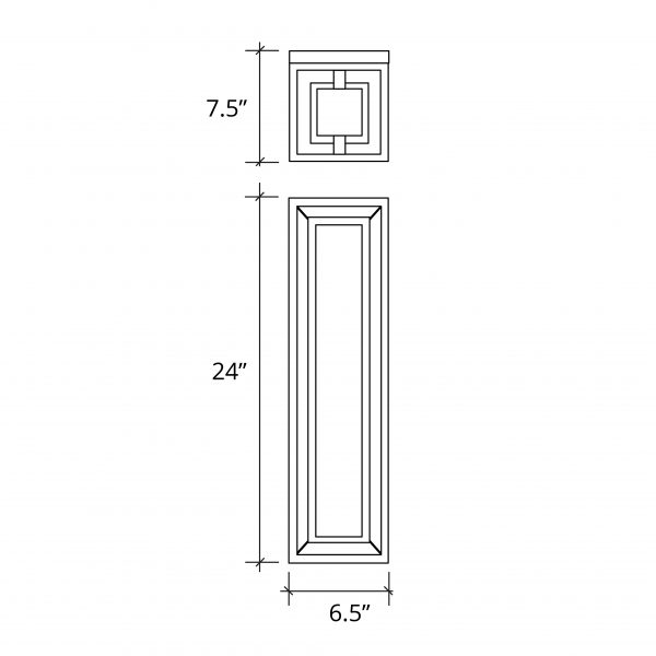 """Bayview 24"""" LED Wall Sconce (Outdoor)"""