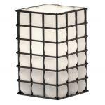Wire Glass Square w/ Flat Rim (WGL-15)